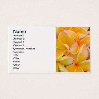 Hawaiian Frangipani Business Card