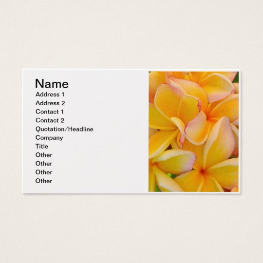 Hawaiian Frangipani Business Card