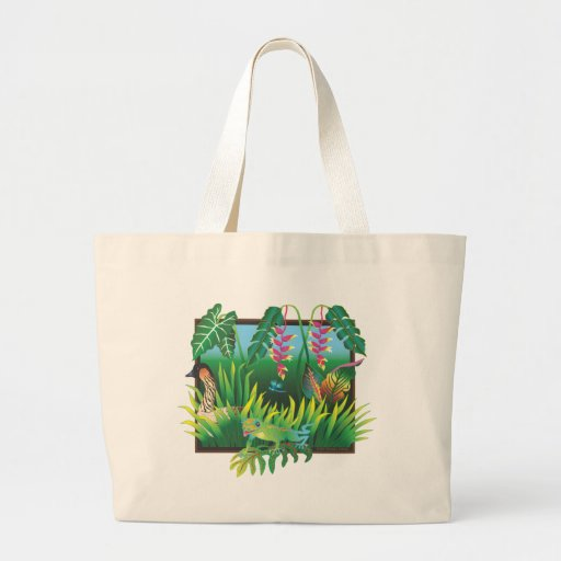 Hawaiian Garden Large Bag