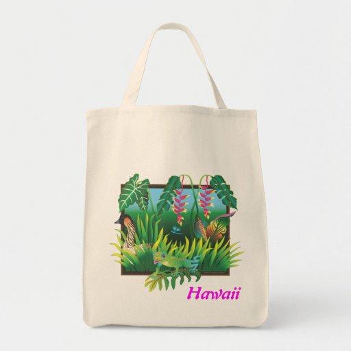 Hawaiian Garden Shopping Bag