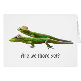 Hawaiian Geckos Card