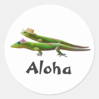 Hawaiian Geckos Classic Round Sticker