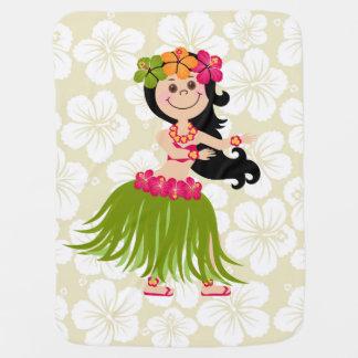 Hawaiian Girl Baby Blanket