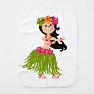 Hawaiian Girl Burp Cloth