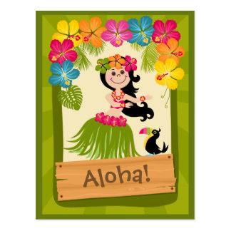 Hawaiian Girl Postcard