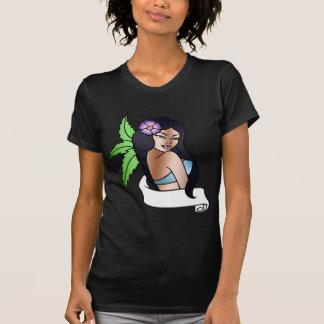 hawaiian girl tattoo t shirt