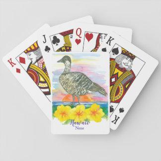 Hawaiian Goose Nene State Bird of Hawaii Playing Cards