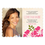 Hawaiian Graduation Announcements Invitations Pink 13 Cm X 18 Cm Invitation Card