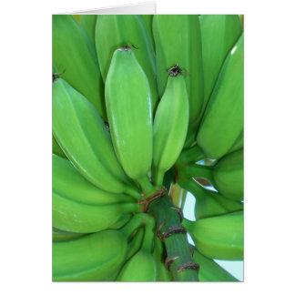Hawaiian Green Bananas Card