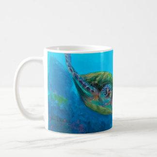 Hawaiian Green Sea Turtle Tropical Fish Reef Mug