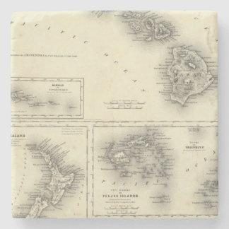Hawaiian Group Or Sandwich Islands Stone Coaster
