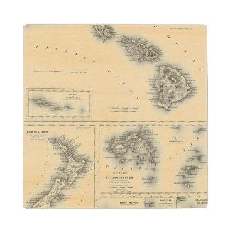 Hawaiian Group Or Sandwich Islands Wood Coaster