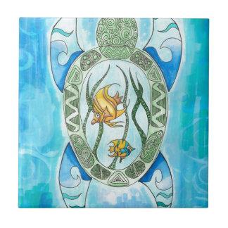 Hawaiian Hanu Green Sea Turtle Inspired Tile