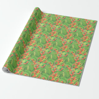 Hawaiian Heliconia Wrapping Paper
