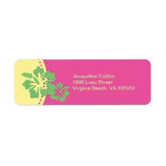 Hawaiian Hibiscus Avery Label Return Address Label
