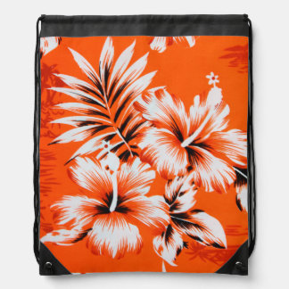 Hawaiian Hibiscus Flower Background Drawstring Bag