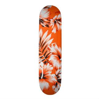 Hawaiian Hibiscus Flower Background Skate Board Deck