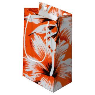 Hawaiian Hibiscus Flower Background Small Gift Bag