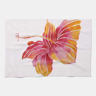 "Hawaiian Hibiscus Flower Kitchen Towel 16"" x 24"""