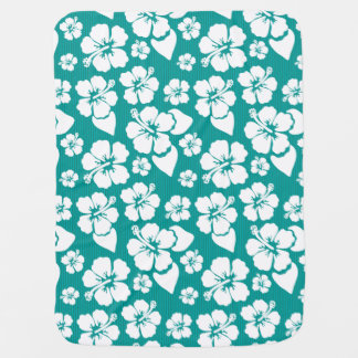 Hawaiian Hibiscus Flower Pattern Baby Blanket