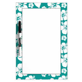 Hawaiian Hibiscus Flower Pattern Dry Erase Board