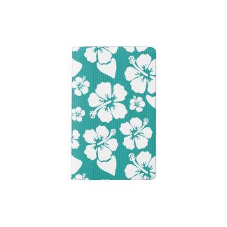 Hawaiian Hibiscus Flower Pattern Pocket Moleskine Notebook