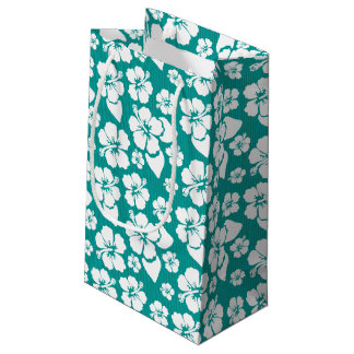 Hawaiian Hibiscus Flower Pattern Small Gift Bag