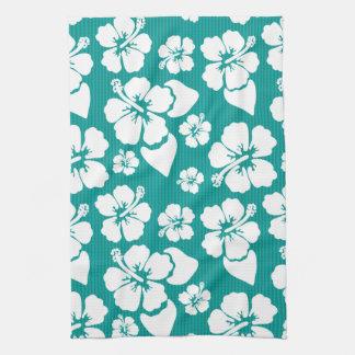 Hawaiian Hibiscus Flower Pattern Tea Towel