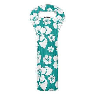 Hawaiian Hibiscus Flower Pattern Wine Bag