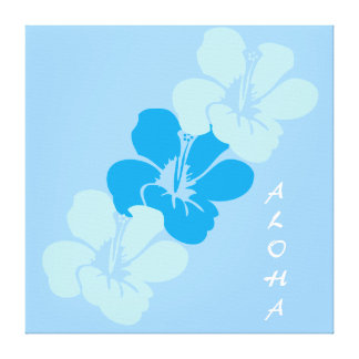 Hawaiian Hibiscus Flowers Aloha Canvas Print