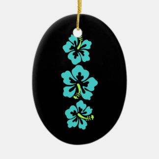 Hawaiian Hibiscus Flowers Christmas Ornament