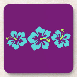 Hawaiian Hibiscus Flowers Coaster