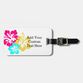 Hawaiian Hibiscus Flowers Luggage Tag