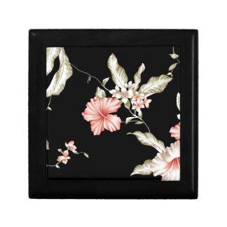 HAWAIIAN HIBISCUS FLOWERS SMALL SQUARE GIFT BOX