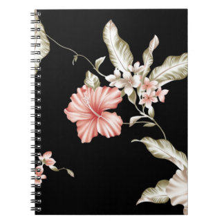 HAWAIIAN HIBISCUS FLOWERS SPIRAL NOTE BOOKS