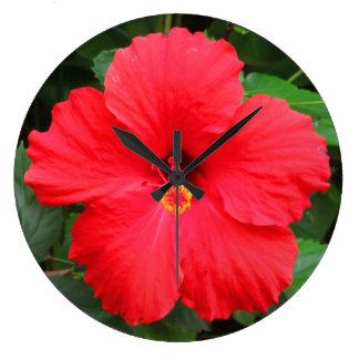 Hawaiian Hibiscus Large Clock