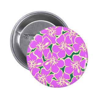 Hawaiian Hibiscus Luau Tropical Flowers 6 Cm Round Badge