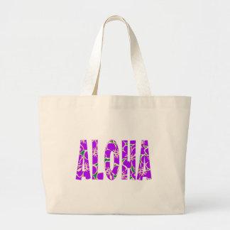 Hawaiian Hibiscus Luau Tropical Flowers Canvas Bags