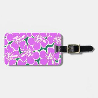 Hawaiian Hibiscus Luau Tropical Flowers Luggage Tags