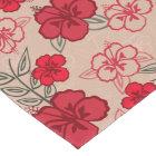 Hawaiian Hibiscus Pattern Red Short Table Runner