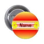 Hawaiian Hibiscus Red Surfboard 6 Cm Round Badge