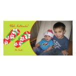 Hawaiian Hibiscus Slippers Holiday Photo Card