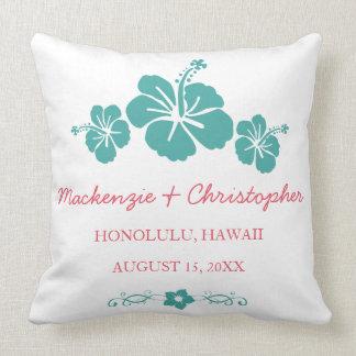 Hawaiian Hibiscus Wedding Cushion