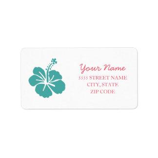 Hawaiian Hibiscus Wedding Label