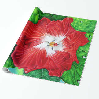 Hawaiian Hibiscus Wrapping Paper
