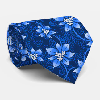 Hawaiian Holly Blue Single-Sided Tie