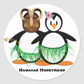 Hawaiian Honeymoon Classic Round Sticker