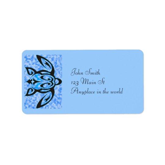 Hawaiian honu address label