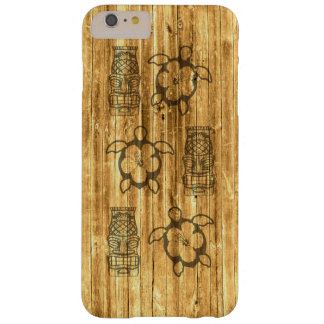 Hawaiian Honu And Tiki Mask Barely There iPhone 6 Plus Case