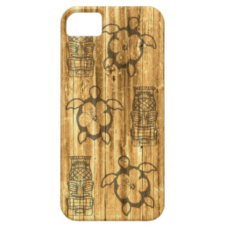 Hawaiian Honu And Tiki Mask Case For The iPhone 5